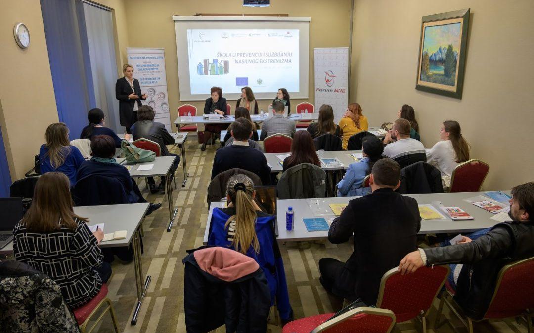 Trening: Razumijevanje i prevencija nasilnog ekstremizma u školama, datum 27. novembar