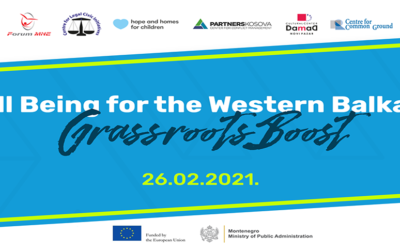WELL BEING FOR THE WESTERN BALKANS: GRASSROOTS BOOST